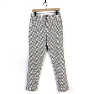 Cabi Window Pane Check Black White Pants Size 6